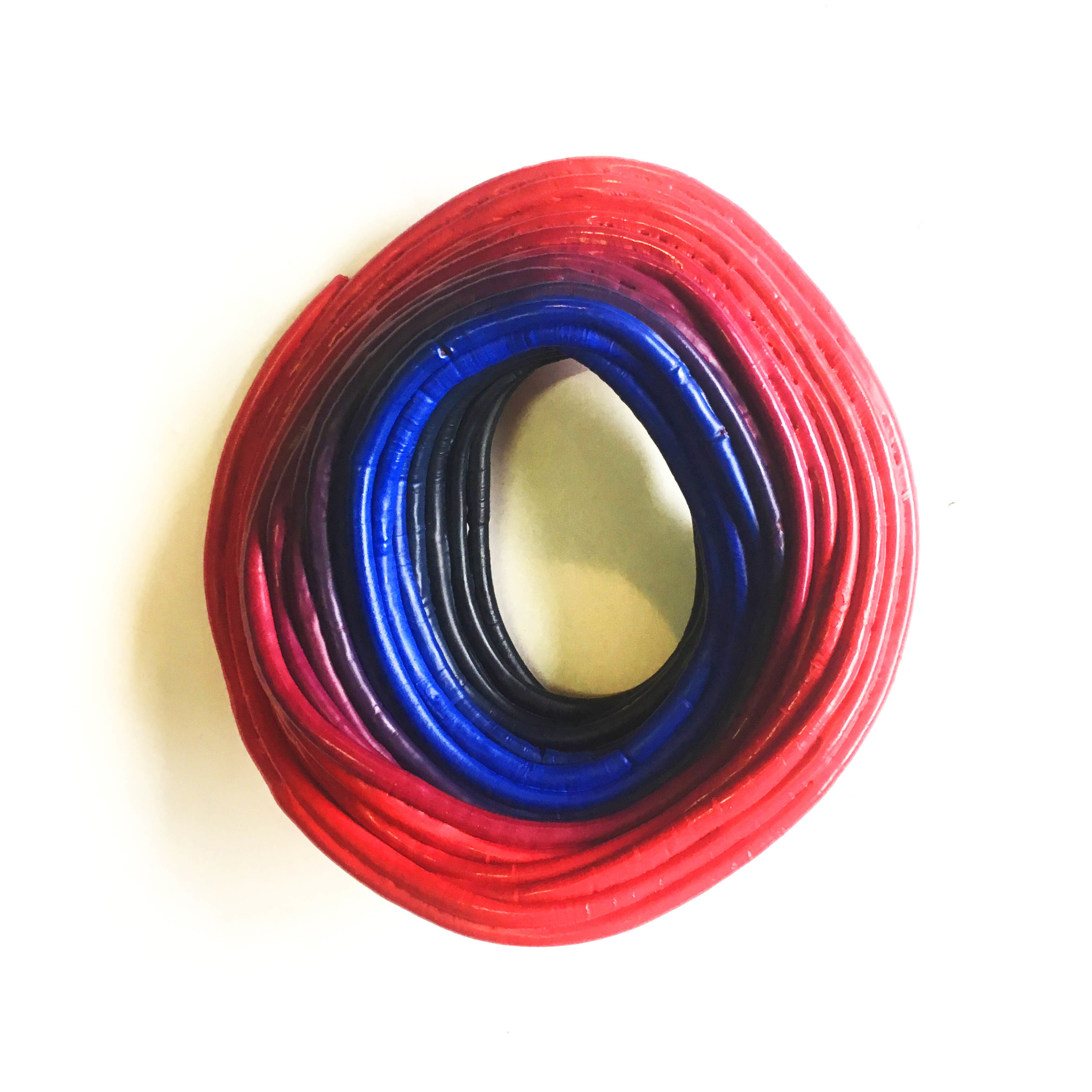 Concentric Circle - Red and Blue, Recycled Polyethylene (2019)